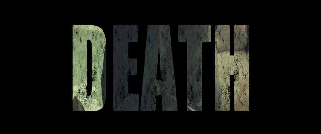 """Image from Death's Door.  The word """"death"""" appears in big capital letters."""